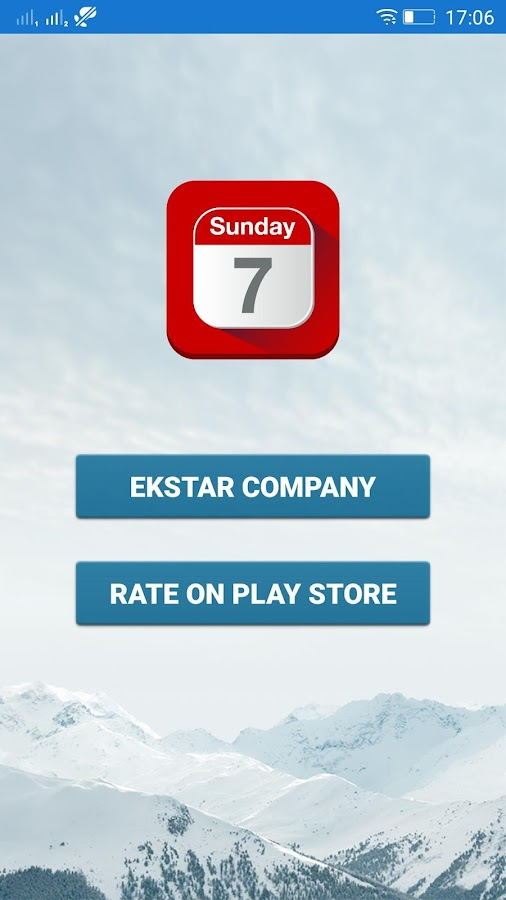 Ekstar Calendar- screenshot