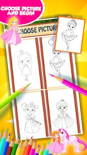 Malá princezna omalovánky - náhled
