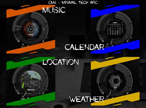 CMX - Minimal Tech Arc u00b7 KLWP Theme v1.0 Screenshots 2