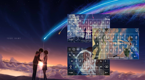 Anime Love Keyboard Emoji - náhled