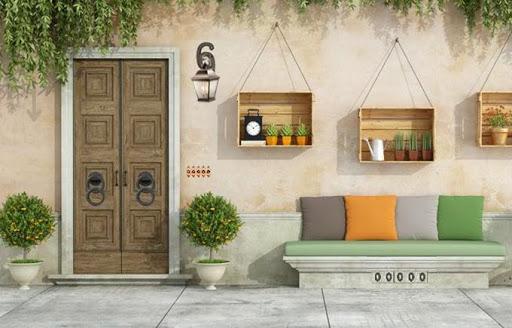Modern Green House Escape