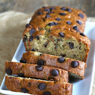 Chocolate Chip Gluten Free Zucchini Bread.