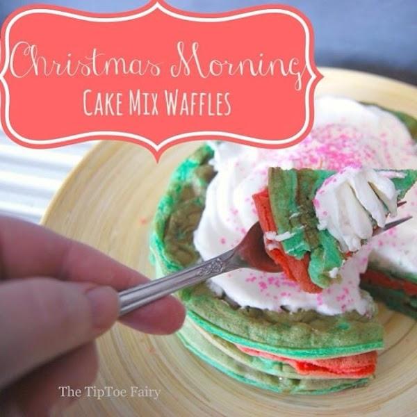 Christmas Cake Mix Waffles Recipe