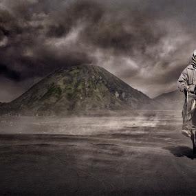 Volcano Knight by Al Hilal - People Portraits of Men ( volcano, bromo )