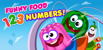 Funny Food 3! Kids Number games for toddlers