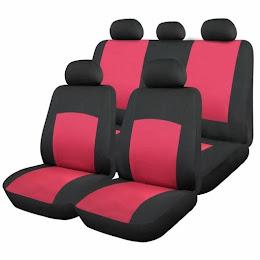 Huse scaune auto Oxford 9 bucati, culoare Rosu