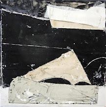 "Photo: Capital Reflex (oil, charcoal and thumbtacks on canvas) 52x52"" 2014"