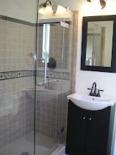 Photo: Master bathroom w/custom tile work
