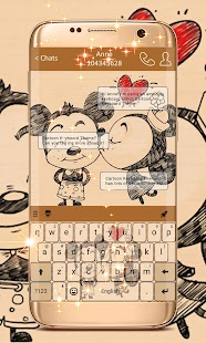 Cartoon Keyboard Theme Screenshot