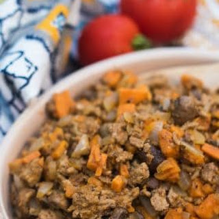 Sweet Potato Mushroom Ground Turkey.