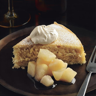 Buttermilk Spice Cake with Pear Compote and CrèMe FraîChe Recipe