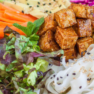 Banh Mi Noodle Bowl With Sticky Tofu [Vegan, Gluten-Free]