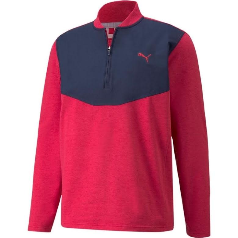 Puma Golf CloudSpun 1/4 Zip Persian Red