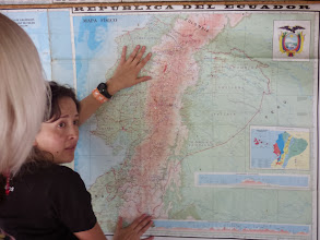 Photo: Maria showing us where we are - doh