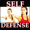 Self Defense. Martial arts exercises icon