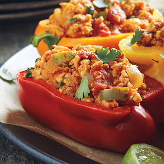Mexican Chicken Stuffed Peppers.