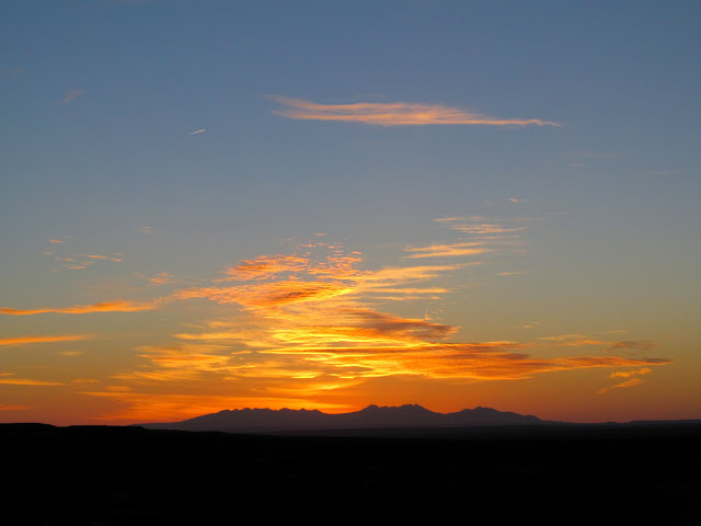 Sunrise over the La Sals
