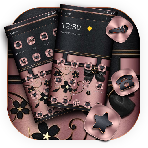 Pink Black Leather Business Theme Android APK Download Free By Fantastic Design