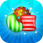 Lollipop & Sweet Candy: Free Match 3 games Icon
