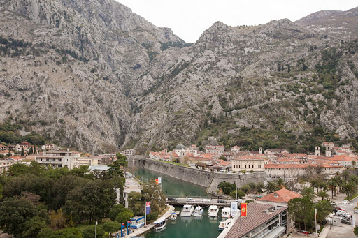 Kotor-view-from-the-harbor.jpg - A view of Old Kotor from the harbor.