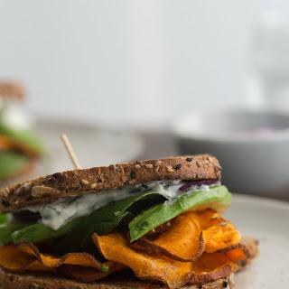 Chili Roasted Sweet Potato Sandwich