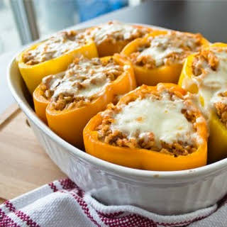 Chicken and Rice Stuffed Peppers.