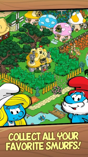 Smurfs' Village v1.44.0 (Mod Gold/Smurf Berry/Resource)