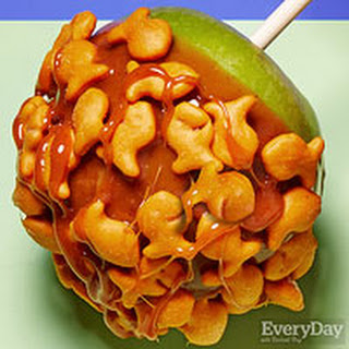 Spicy Goldfish Caramel Apples