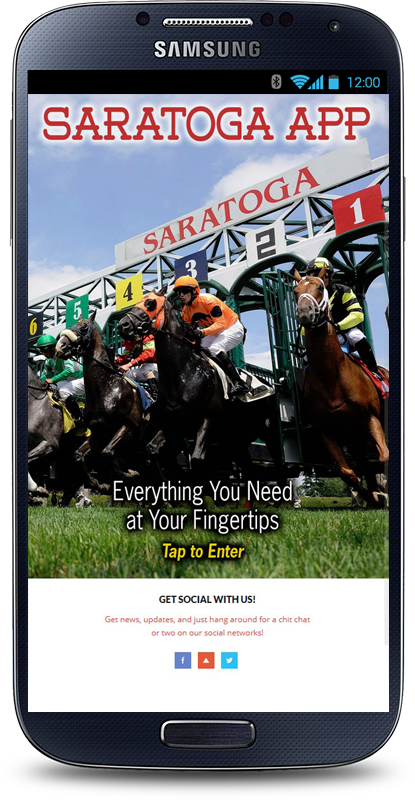 Saratoga App- screenshot