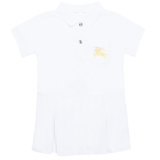 Primary image of Burberry Baby White Polo Dress