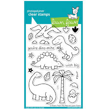 Lawn Fawn Clear Stamps 4X6 - Critters From The Past