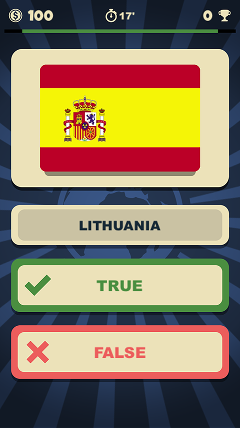 World Flags Quizzer- screenshot