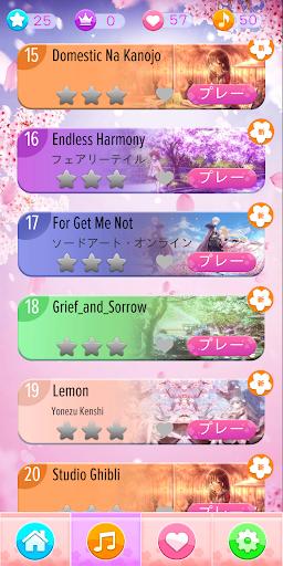 Anime Songs Piano Tiles - Pianist Rhythm Game screenshot 3