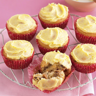 Fig and Raisin Cupcakes with Cream Cheese Frosting.