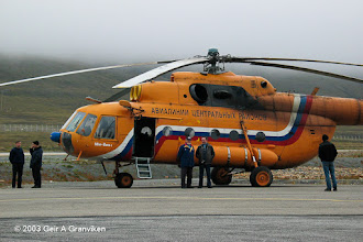 Photo: Russian Mil Mi-8 helicopter at Longyear Airport, Svalbard (ENSB)