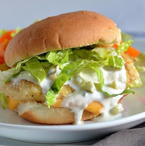 Fish Fillet Sandwich With Homemade Tartar Sauce Recipe