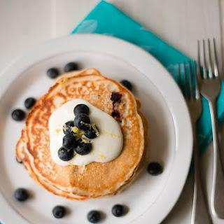 Lemon Blueberry Protein Pancakes