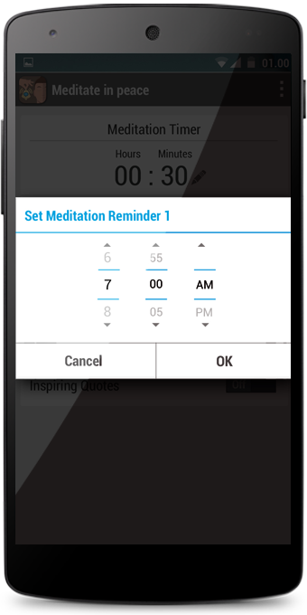 Meditate Peacefully Timer Bell- screenshot