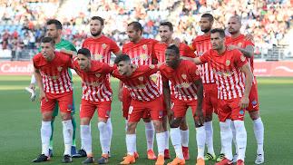 El once del Almería ante el Alcorcón en la jornada 41.