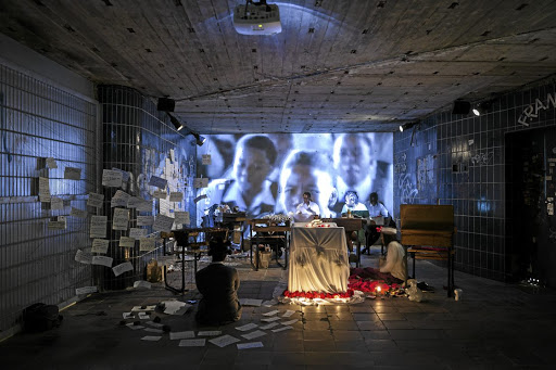 Lessons: South African avant-garde art collective iQhiya is showing its installation, featuring the 1967 film To Sir, With Love, at the 2017 edition of Documenta in Kassel, Germany. The art expo, which was founded after the Second World War, features more than 160 artists from around the world. Picture: SUPPLIED