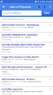 Job vacancies in Philippines - náhled
