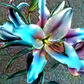 Lilies 9 by Cassy 67 - Digital Art Things