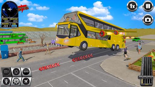 Flying Bus Driving simulator 2019: Free Bus Games screenshots apkshin 14