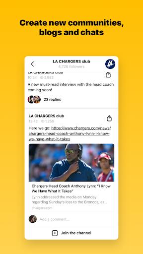 Capture u2013 chats and communities screenshots 2