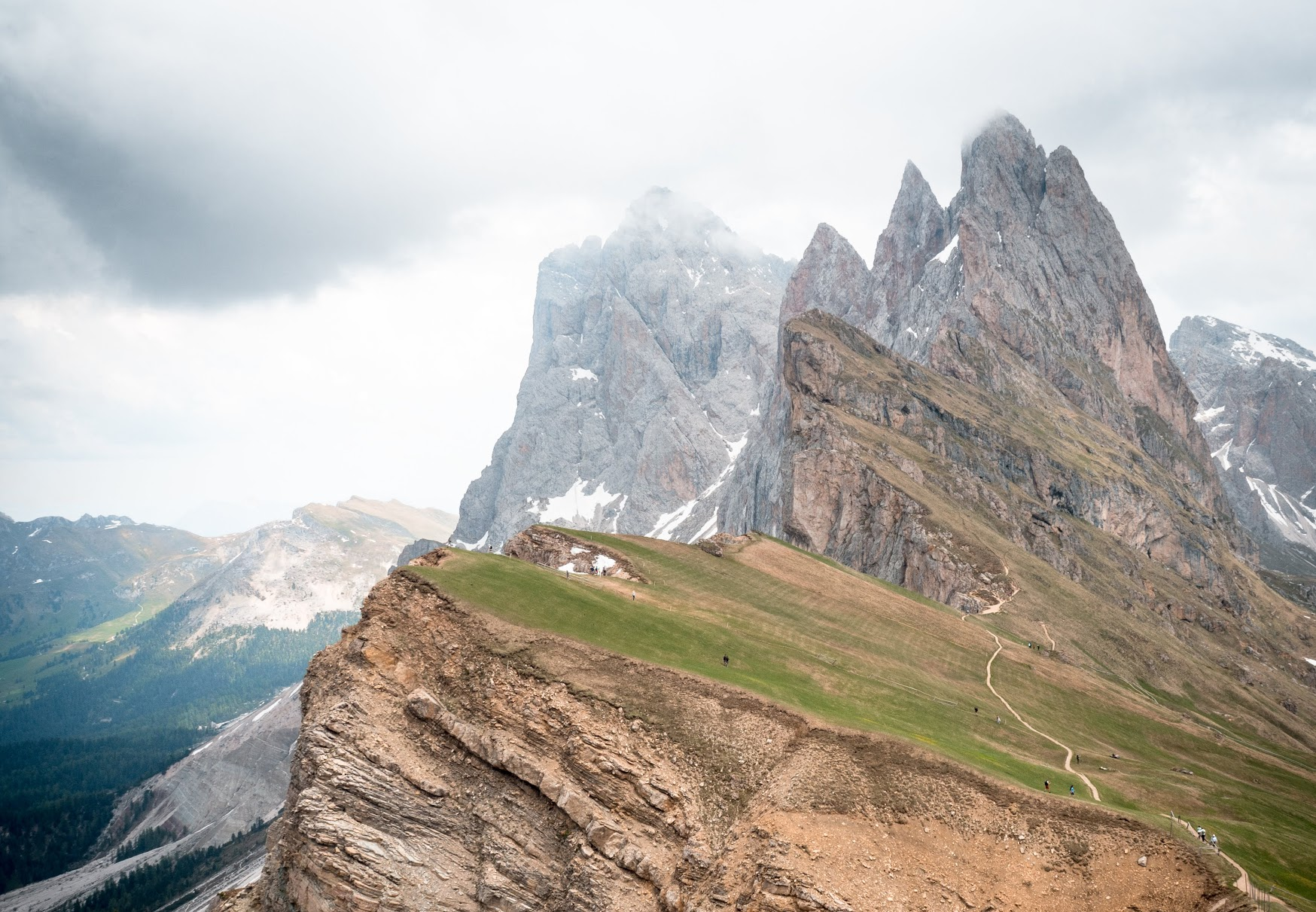 Seceda Peak, accessible from Seceda gondola from the town of Ortisei