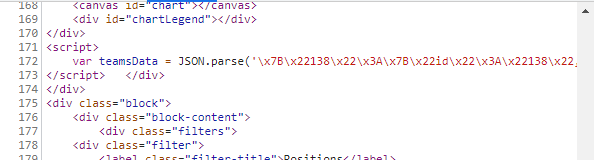 soccer data json encoding