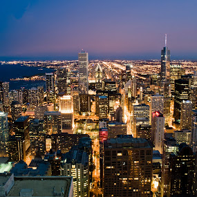 Blue Hour Chicago by Brad Kalpin - Landscapes Travel