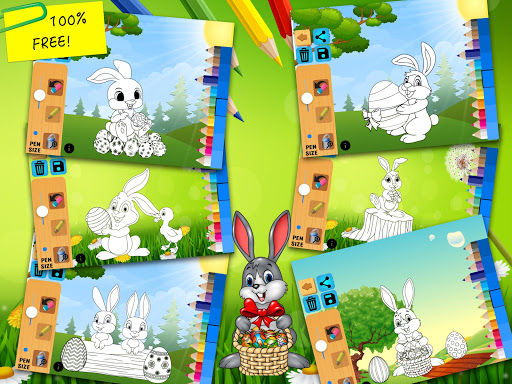 Easter bunny egg coloring book 1.06 screenshots 15