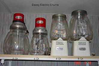 Photo: 4 Qt. & 8 Qt. Electric Churns Mfd.1940's-1950's DAZEY'S