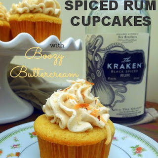 Spiced Rum Cupcakes with Boozy Buttercream.